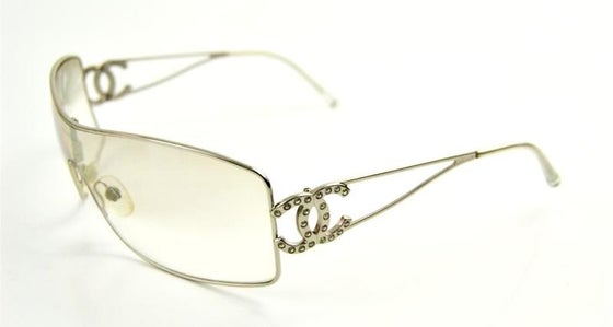 Image of CHANEL Clear Lens CC Swarovski Crystals Logo Sunglasses 4072-B