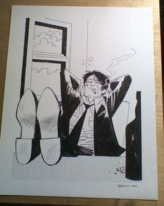 Image of Large Custom Ink Drawing