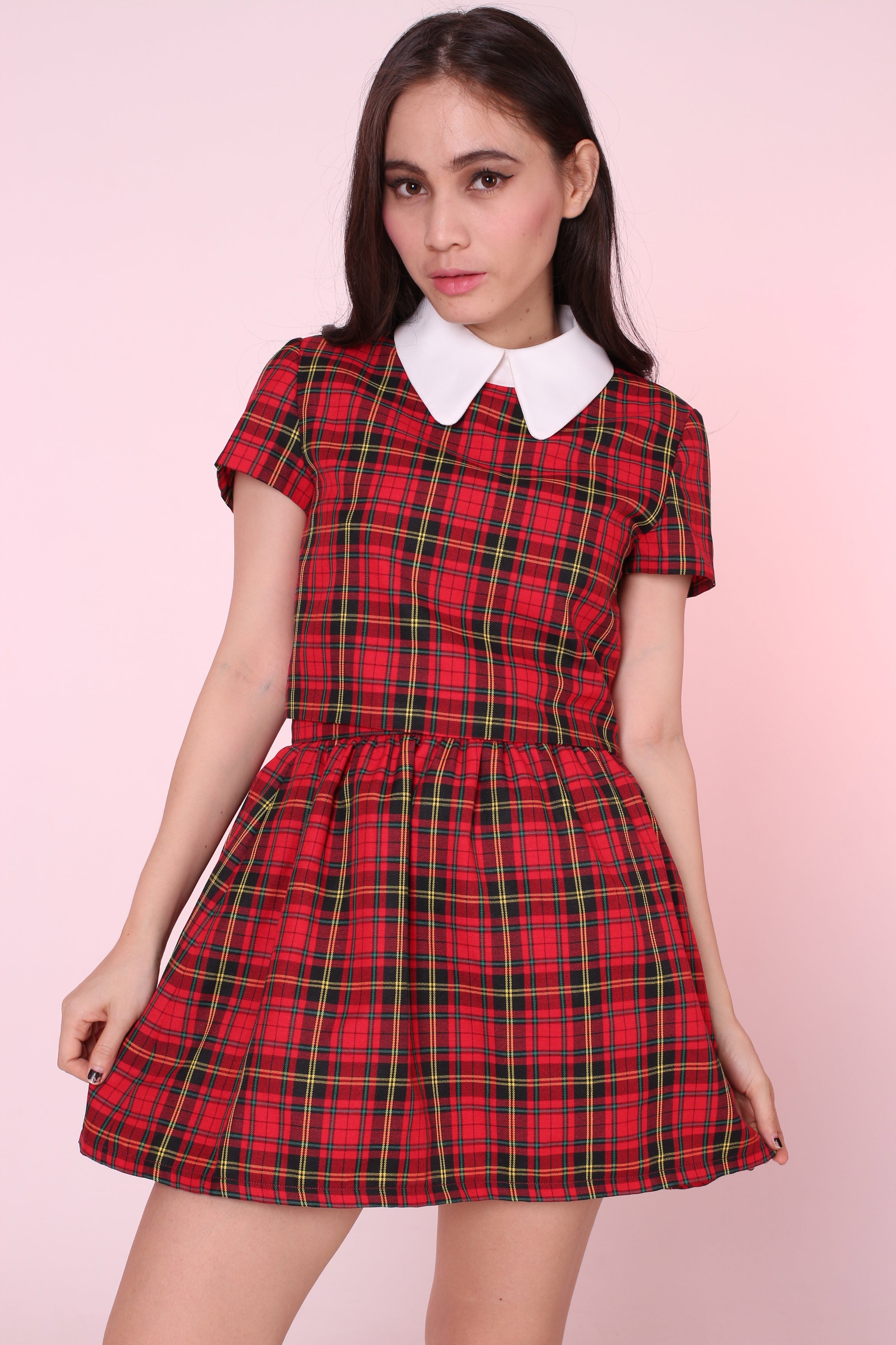 Glitters For Dinner u2014 MADE TO ORDER - Clueless Tartan Set in Red
