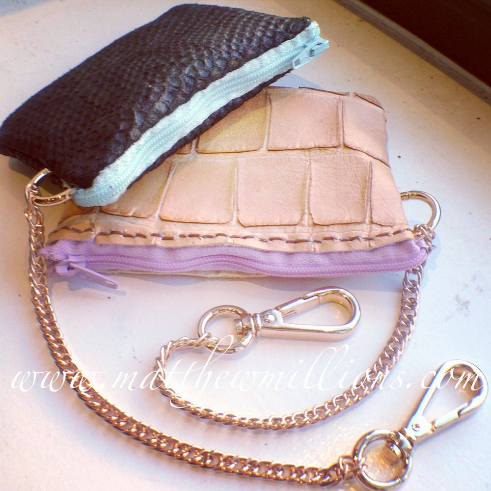 Image of Snakeskin Zip Wallet