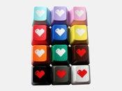 Image of 8-bit Heart Keyset