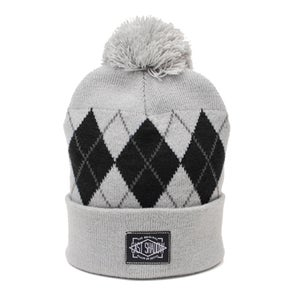 Image of Argyle Beanie (Grey)