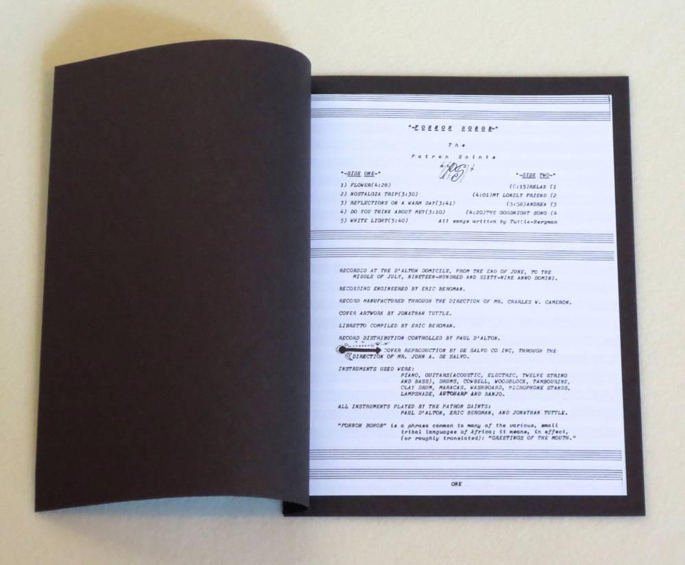 Image of THE PATRON SAINTS ~ FOHHOH BOHOB ~ lp & 7inch (TIME-LAG 039/040)