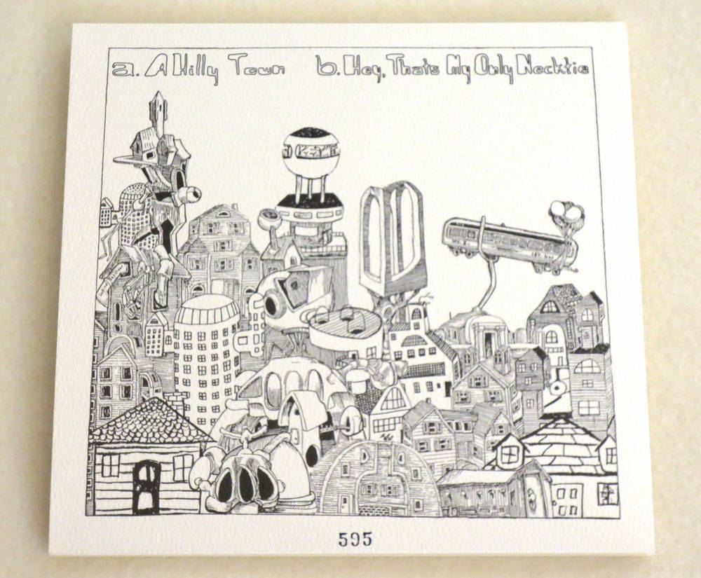 Image of THE PONYS (aka PHANTOM BUFFALO) ~ A HILLY TOWN ~ 7inch (TIME-LAG 005)
