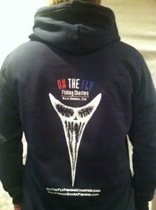 Image of Navy and black mako tooth hoodie