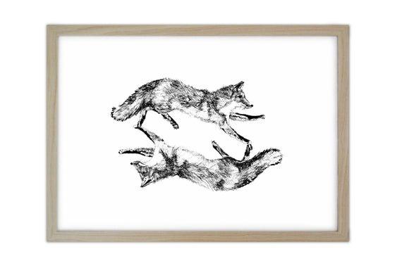 Image of Dancing Foxes Screen Print