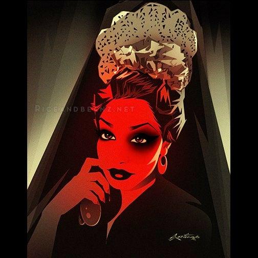 Image of  Day 6 of Flamenco February. Original & prints.
