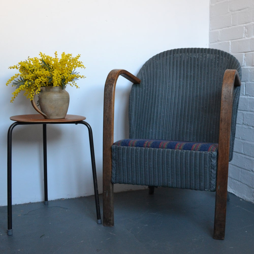 Image of Vintage Woven Armchair