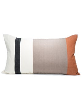Image of OTTI PILLOW black | white | cognac 17X30