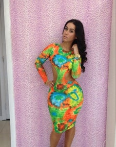 Image of Tie dye Bodycon