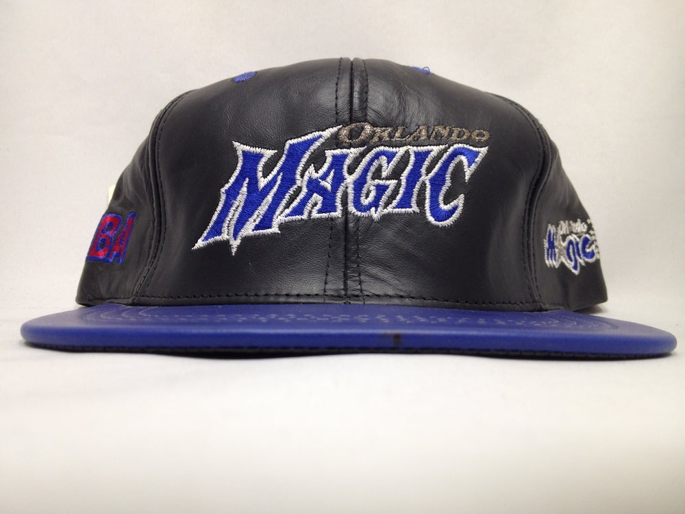 Image of Vintage Deadstock Orlando Magic Leather JH Snapback Cap