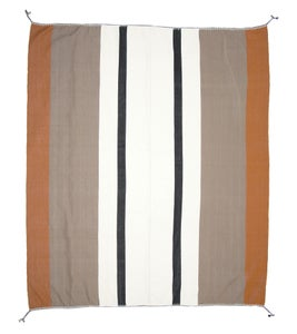 Image of OTTI 60X60 THROW black | white | cognac (2013)