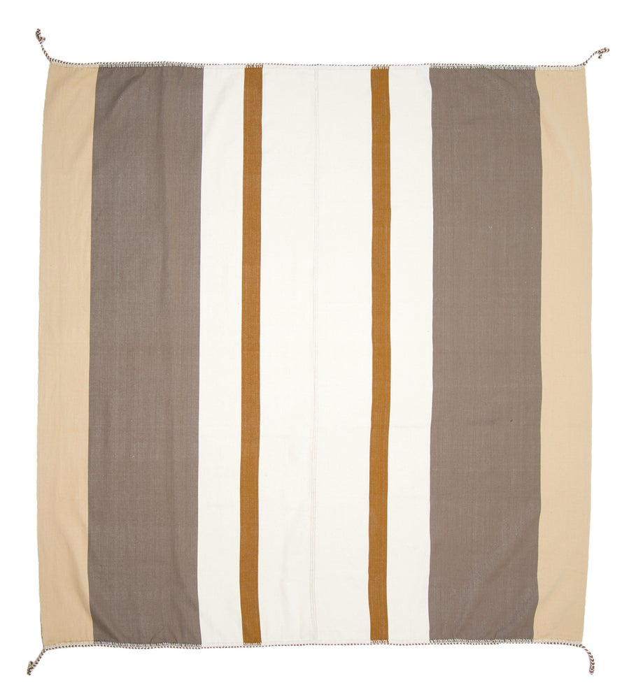 Image of IDA 90X90 BLANKET white/tan/steel (2013)