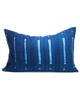Image of KAMPALA PILLOW indigo resist 12X18