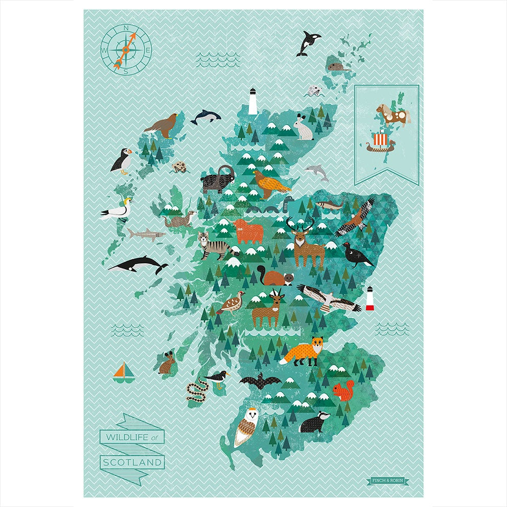 Image of A2 Wildlife of Scotland Map