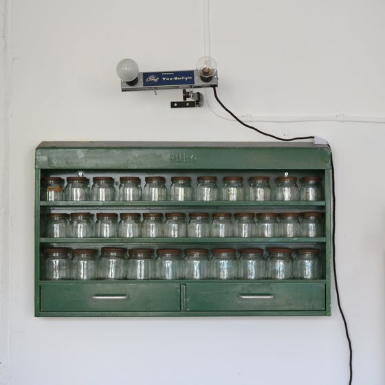 Image of Vintage Industrial Metal Wall Unit