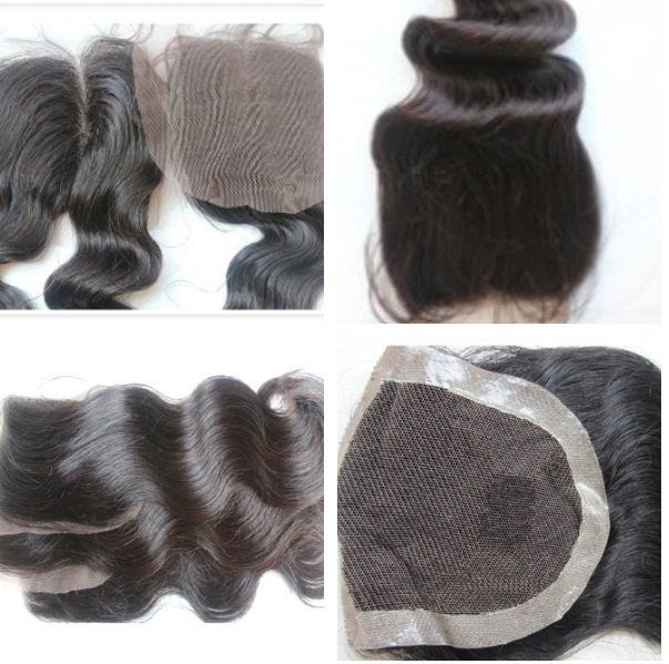 Image of Virgin hair top lace closures