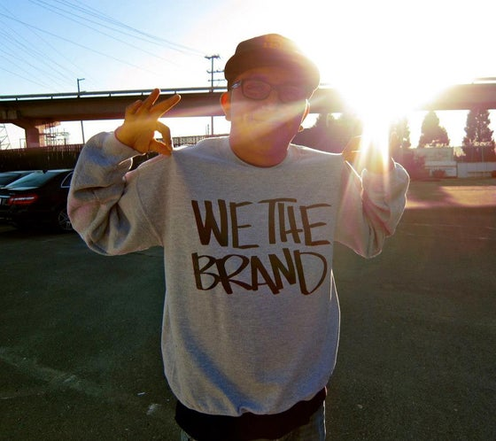Image of We The Brand CREWNECK Sweatshirt (ASH GREY)