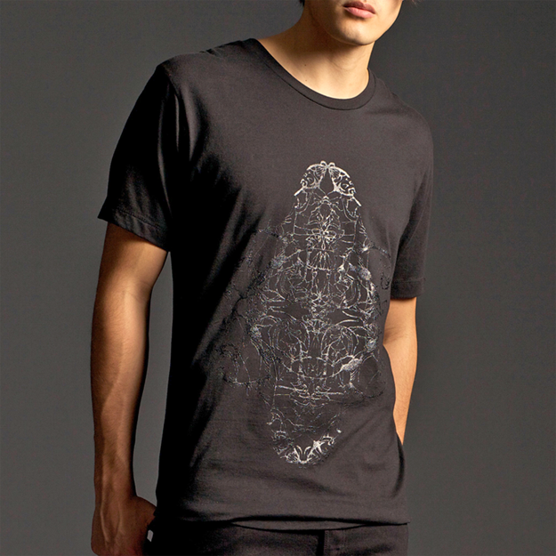 """Image of """"FOUR HORSEMEN"""" CREW NECK T-SHIRT WITH GLOSS PRINT"""