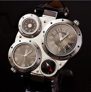 Image of Black Steampunk Mechanical Man Wrist Watch (WAT0101-White)