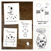 """Image of 5 Cartes Sérigraphiées """" SWEET DAY"""""""