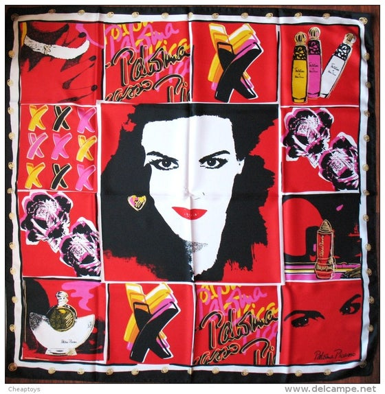 Image of SOLD OUT PALOMA PICASSO Le Foulard De Collection Pop Art Scarf