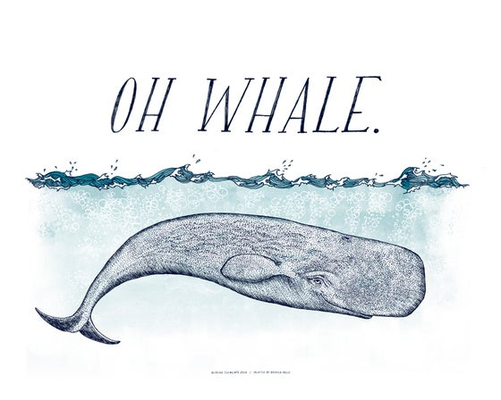 Image of OH WHALE Art Print
