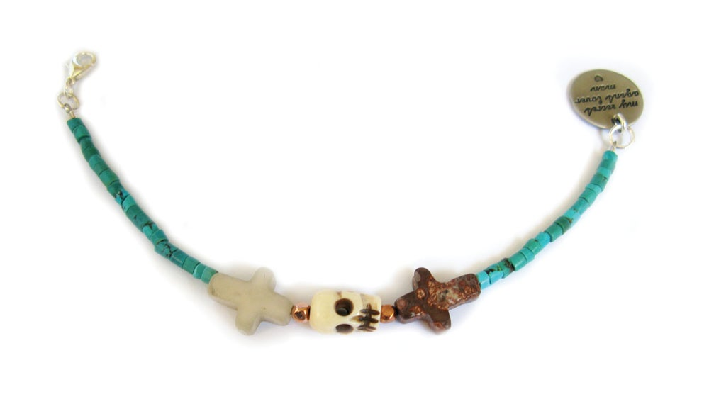 Image of Crossed Lover Bracelet (Turquoise 1.0)
