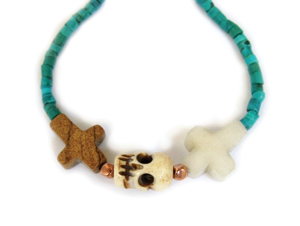 Image of Crossed Lover Bracelet (Turquoise 2.0)