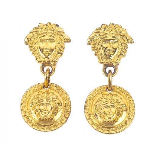 Image of SOLD OUT VINTAGE GIANNI VERSACE GOLD MEDUSA EARRINGS