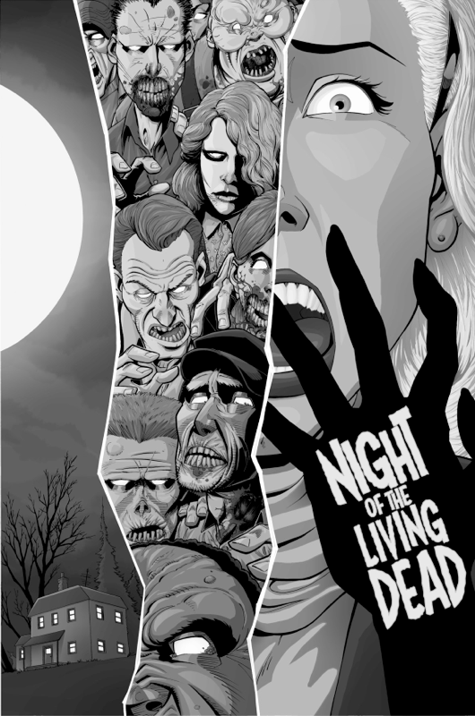 Image of Night Of The Living Dead (B&W) by J-Wright