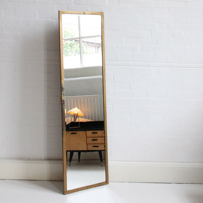 Image of Brass Floor-Standing Mirror