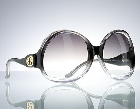 Image of BALENCIAGA Huge Sunglasses BAL 0003/N/S Black