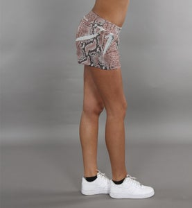Image of COMING SOON - BIGWIG short rosa con stampa effetto SNAKE PYTHON