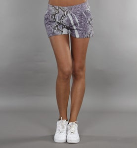 Image of COMING SOON - BIGWIG short viola con stampa effetto SNAKE