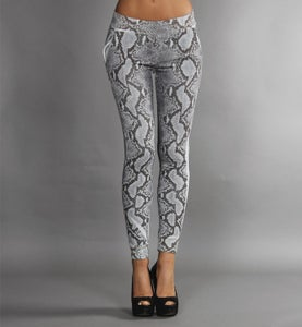 Image of COMING SOON - BIGWIG pantaloni lunghi grigi con stampa effetto SNAKE
