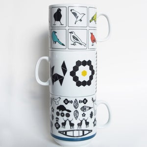 Image of Ceramic Nesting Mugs [3 designs]