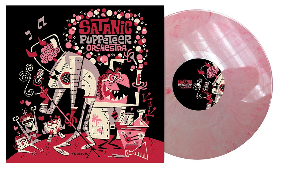 "Image of Experiments with Auto-Croon - Pink/White 12"" Vinyl+MP3"