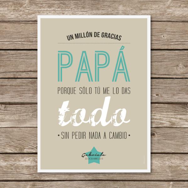 "Image of Lámina ""Un millón de gracias papá"""
