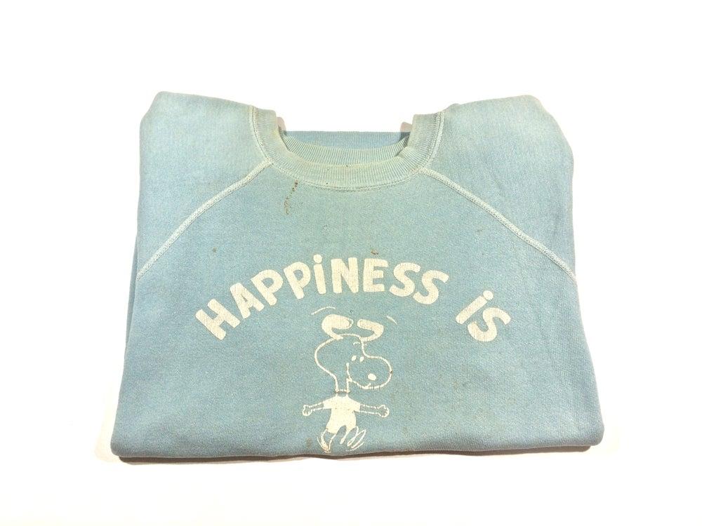 "Image of Vintage 60's Snoopy Sweatshirt ""happiness Is"""