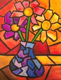 Image of Geo Flower Painting Kit