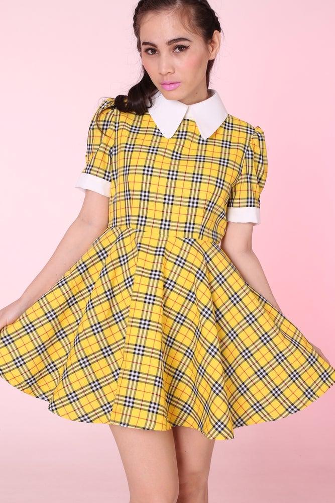 Image of Ready To Post - Tartan Wonderland Dress in Yellow
