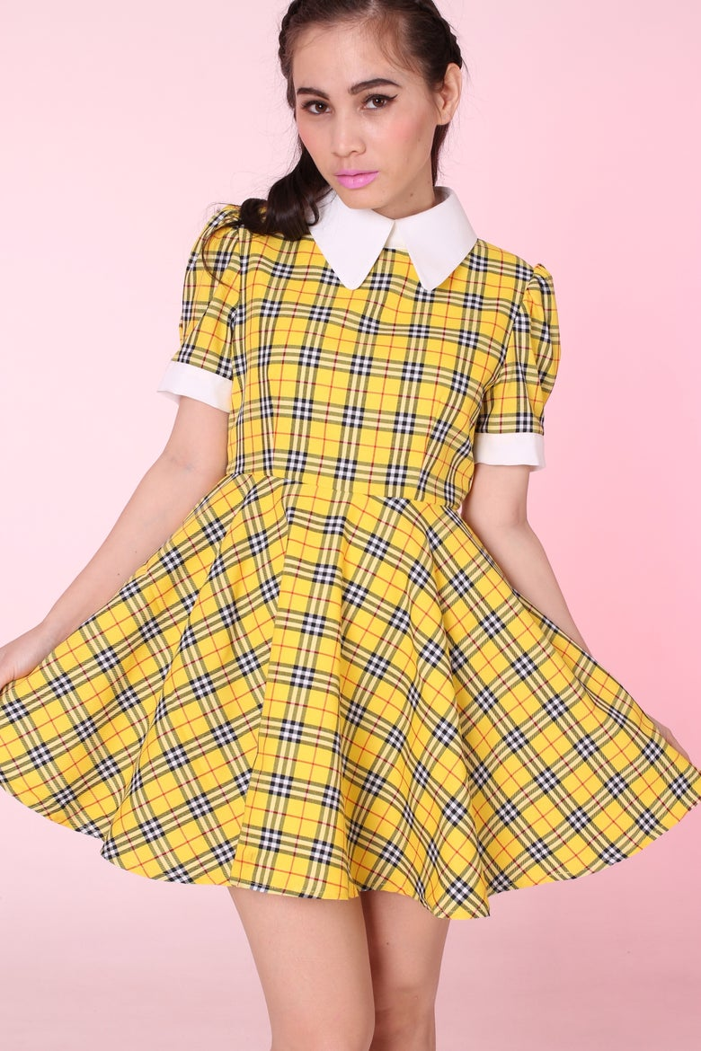 Image of Ready To Post - Tartan Wonderland Dress in Yellow