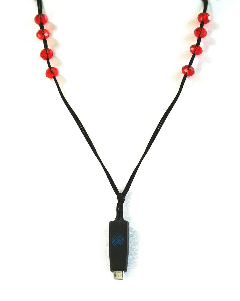 Image of RED HOT Earpiece Holder Necklace