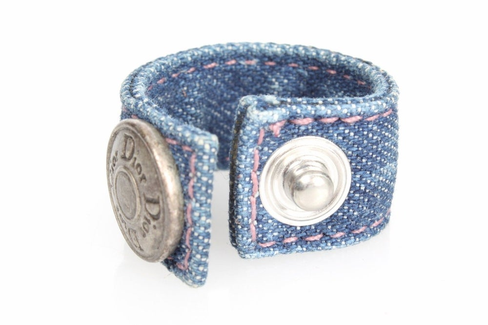 Image of Dior Authentic Denim Clip Button Ring