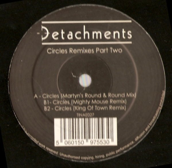 "Image of Detachments - Circles Remixes (Part 2) 12"" feat. Martyn"