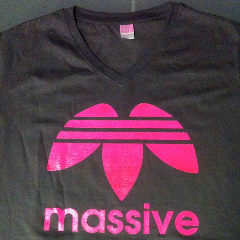 Image of Massive Logo:  Women's Ringspun V-Neck