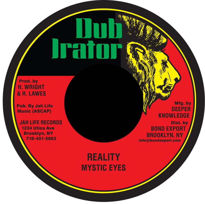 "Image of Mystic Eyes - Reality 7"" (Dub Irator)"