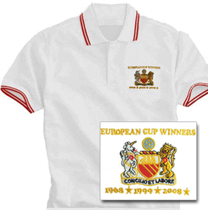 Image of European Cup 3 wins/dates White Polo Shirt