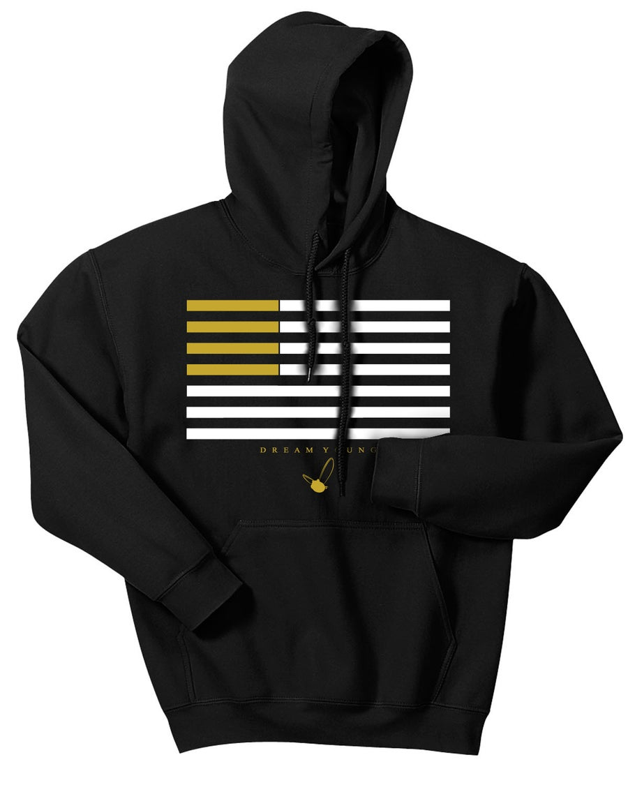 "Image of ""GOLD FLAG"" BLACK/HOODY"